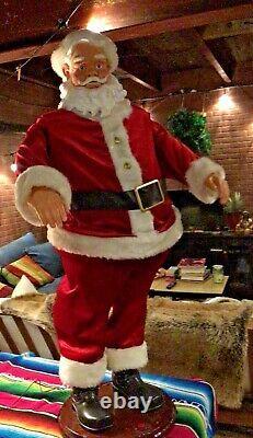 Rare 4' Gemmy Animated Singing Santa Claus Christmas Sings Dancing