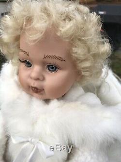 Rare Santas Best Animated Christmas Polar Bear With Girl Doll Riding(Reindeer)