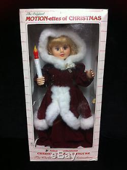 Rare TELCO ANIMATED VICTORIAN LADY Christmas Motionette Illuminated Figure Santa