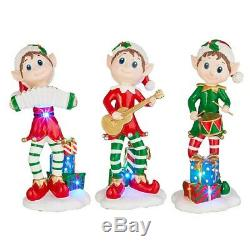 Raz Imports 2020 Santa's Little Helpers 15.75 Lighted Elf Asst of 3