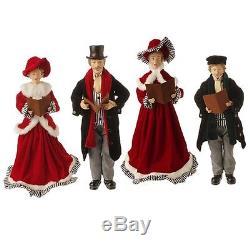 Raz Imports Carolers Charles Dickens Christmas 18 3400769 set of 4