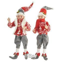 Raz Imports Yuletide Gathering 16 Posable Elf Asst of 2