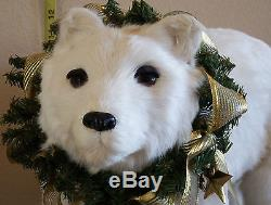 Retired $695 Mark Roberts Santa Claus on a Polar Bear. Exquisite detail. Mint