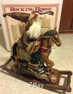 Rocking Horse With Santa Claus Large Christmas Rocking Horse