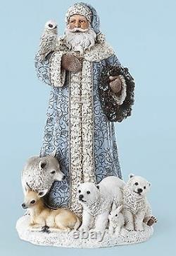 Roman Josephs Studio Santa with Owl Bear Deer Wolf Bunny Animals Christmas 31293