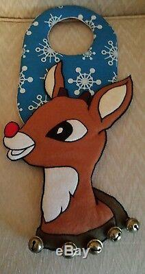 Rudolph the red nosed reindeer door hangers 1 of a kind Extremely Rare