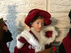 SET of 4 Christmas CAROLERS 18.5 Raz Imports 3752991