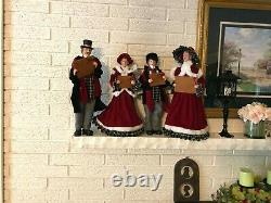 SET of 4 Christmas CAROLERS 18.5 Raz Imports 3752991 DL