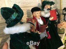 SET of 4 Christmas CAROLERS 18 Raz Imports 3900784
