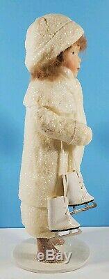SNOW CHILDREN 14 GIRL & ICE SKATES St. Nicholas HANDMADE by ELAINE ROESLE 1995