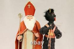 Saint Nickolas & Krampus by Two Sisters Studios NEW Christmas Candy Container