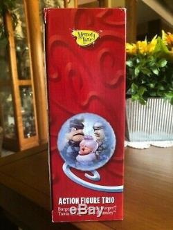 Santa Claus is Comin' Coming to Town Figure TrioMemory LaneBurgermeisterNIB
