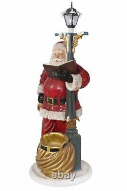 Santa Claus with Lamp Post Christmas Decor Life Size 6.5FT