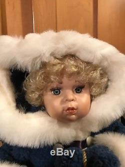 Santa's Best Animated Baby Girl Doll Christmas Figures No Longer Made, Rare