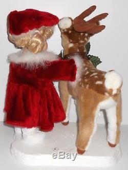 Santa's Best Animated EMMA PETTING REINDEER Little Girl Doll Christmas Box Rare