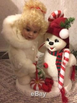 Santa's Best Christmas Animated Collectible snow girl doll, snowman & candy