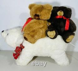 Santa's Best Christmas Animation Indoor Polar Bear with Teddy Bear Riders 24