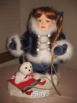Santa's Best Colleen Animated Girl with a Seal Motionette SEE VIDEO
