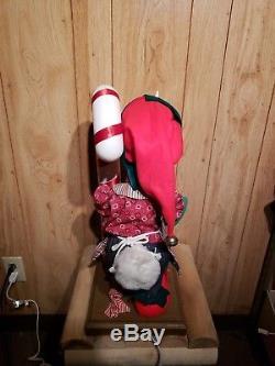 Santa's Best Disney DONALD DUCK CHRISTMAS WORKSHOP ELF 23 Animated