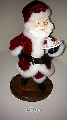 Santa with Plate of Cookies and Mouse Simpich 14 Character Doll #337/1200 2005