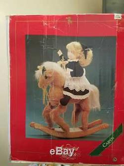 Santas Best Animated Christmas Holiday Girl On Rocking Horse Motionette