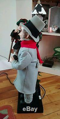 Scrooge BOB Cratchit & TINY Tim Animated Lighted Vintage 1993 Holiday Creation