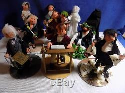 Set Of 10 Annalee A Christmas Carol Dolls Scrooge / Cratchit / Ghost Euc