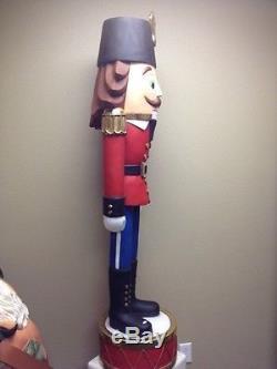 Skinny Nut Cracker Statue -Life Size Christmas Display Decor Prop Free Ship