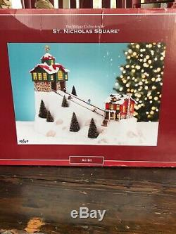 St. Nicholas Square Ski Hill Working Condition Small Flaw On Weather Vane HTF