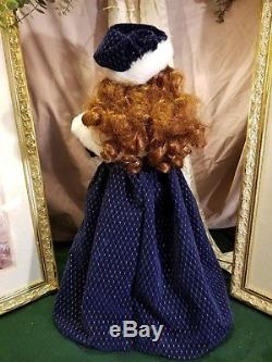 Stunning! Telco Animated Victorian Girl/Boy Doll Motionette Christmas Figure