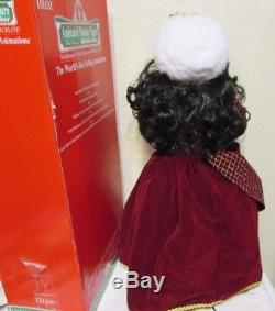 TELCO Motion-ettes Animated African American Girl and Boy Christmas Carolers 24
