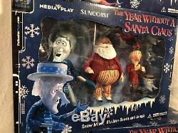 THE YEAR WITHOUT A SANTA CLAUS Figurine Sets (3) Suncoast Figures Brand New 2002