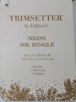 TRIMSETTER LIGHTED NEON MR. BINGLE, 24 L x 29.5 H, CHRISTMAS DECORATIONS