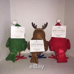 Target Wondershop Featherly Friends Jolly Tinker & Bucky Christmas Birds NWT New