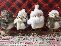 Target Wondershop White Christmas Birds Set Clipper Blizzard Glacier Flurry NEW