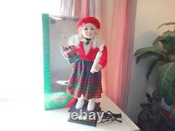 Telco Child Animated Christmas Motionette Doll Girl Box Holiday Figure