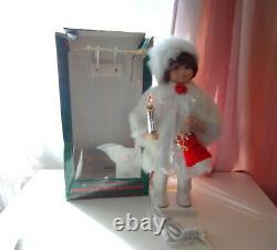 Telco Eskimo Child Animated Christmas Motionette Doll Snowbaby Girl White w Box