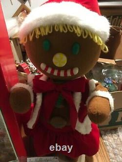 Telco Gingerbread Girl Motion-Ette Animated Display Figure 24 Tall In Box Exc