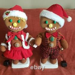 Telco Gingerbread anmiated girl and boy 24 tall motionette