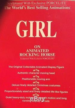 Telco Motion-ettes girl / rocking horse animated christmas decoration 115 volt