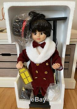 Telco Motionette Christmas Animated Lighted Victorian Boy Caroler W Lantern New