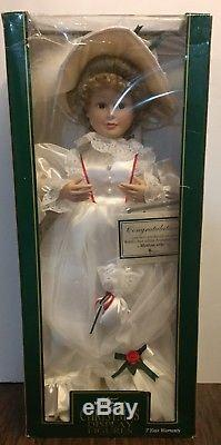 Telco Victorian Lady Girl White Dress Animated Motionette Christmas New With Box