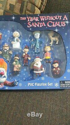 The Year Without A Santa Claus Set Mini 11 Figurines PVC Neca Very Nice Rare