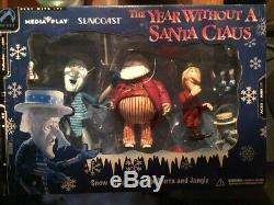 The Year Without a Santa Claus Snow Miser, Civilian Santa and Jangle In Org. Box