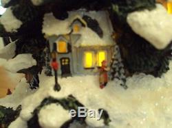 Thomas Kinkade Animated Christmas Tree Sculpture, St Nicholas Circle Express
