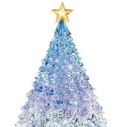Thomas Kinkade Color Changing Lighted & Musical Christmas Tree Sculpture NEW