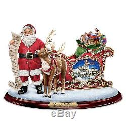 Thomas Kinkade Sculpture Almost Christmas Statue Lights & Sounds Holiday Decor