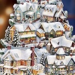 Thomas Kinkade Season of Song Sculpture Musical & Lighted Christmas Decor