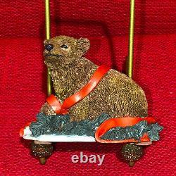 Tom Rubel Christmas Animals Brown Bear Vintage RARE
