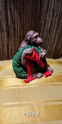 Tom Rubel Christmas Animals Chimpanzee! RARE